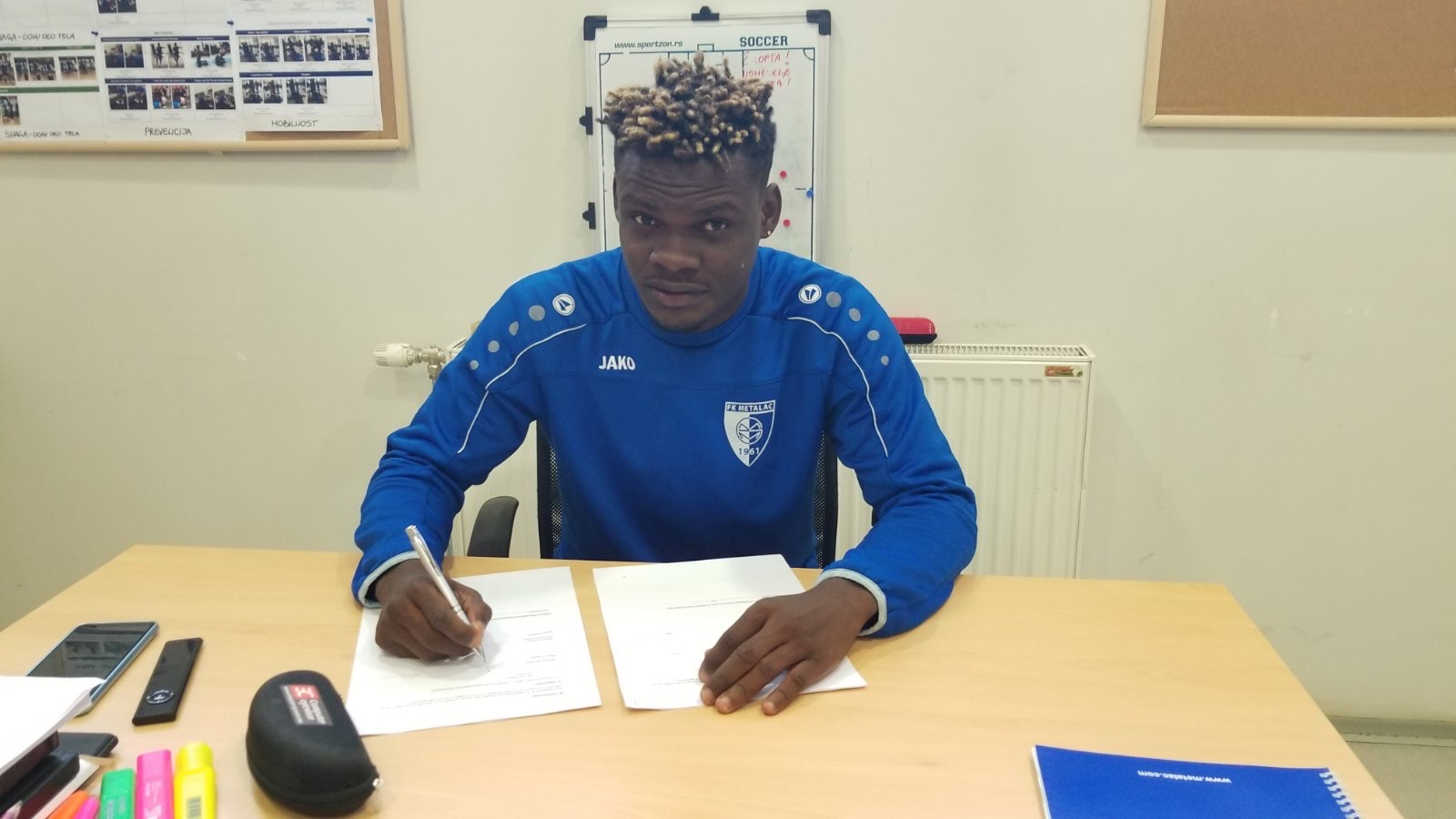 Congo International player signed with Serbian First League FK Metalac