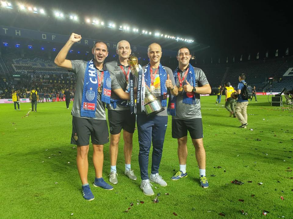 Bandovic with his staff