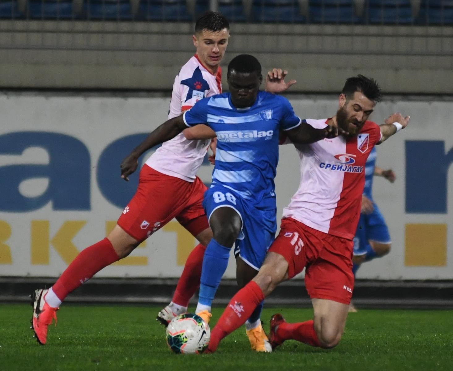 Prestige Mboungou top assistant in Serbian Super League
