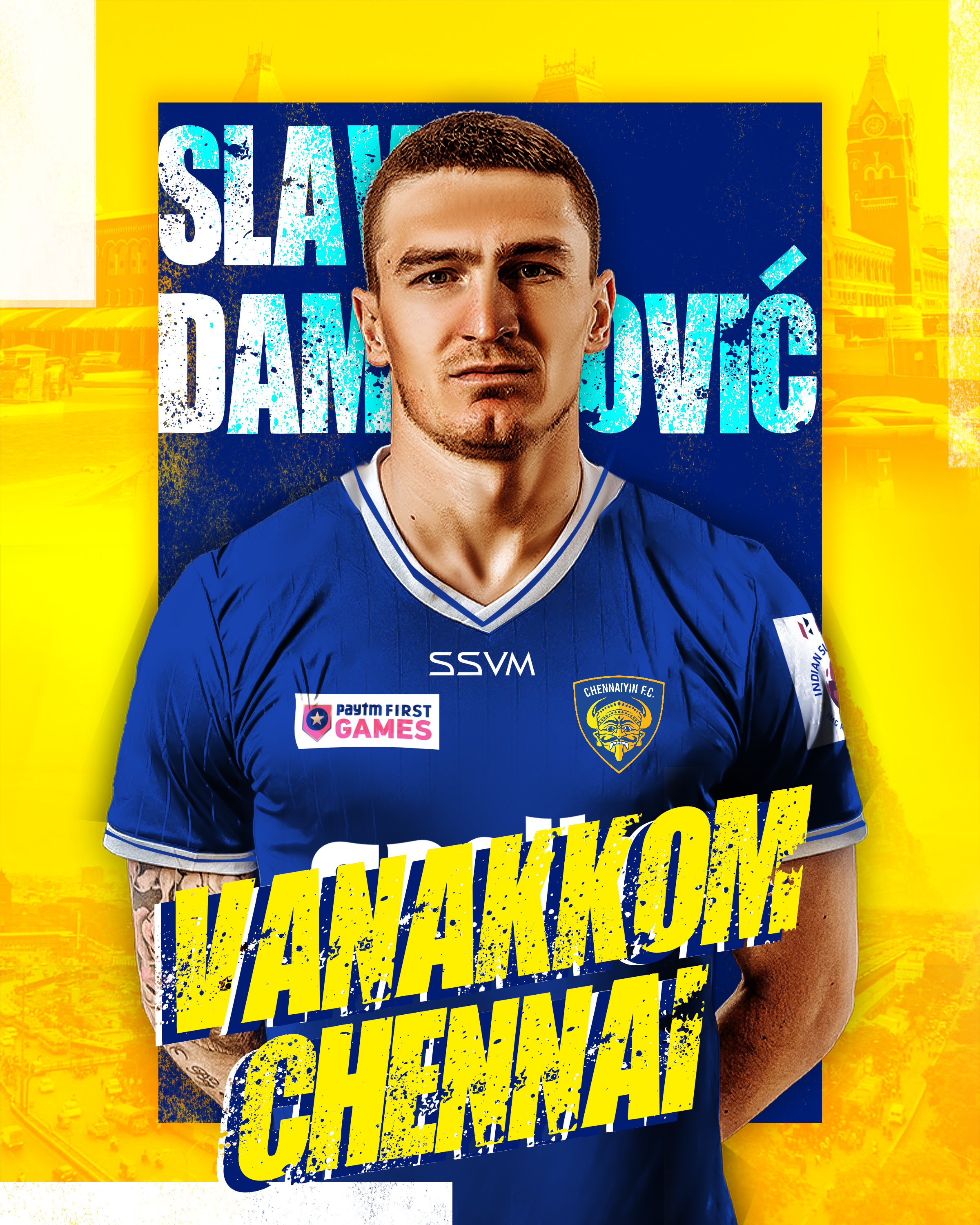Read more about the article Montenegro defender Slavko Damjanovic joined Chennaiyin FC